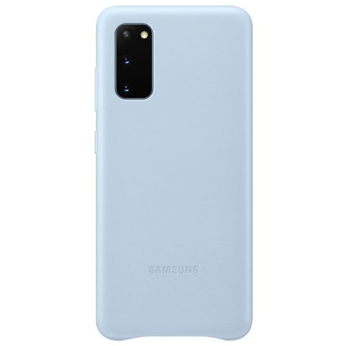 Productafbeelding van de Samsung Leather Cover Blue Galaxy S20