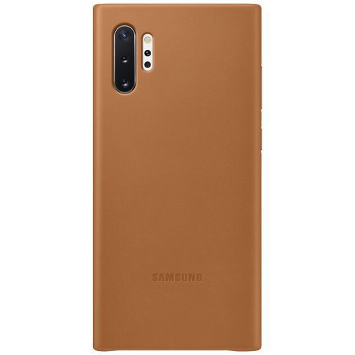 Productafbeelding van de Samsung Leather Cover Camel Galaxy Note 10+