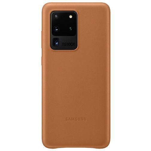 Productafbeelding van de Samsung Leather Cover Brown Galaxy S20 Ultra
