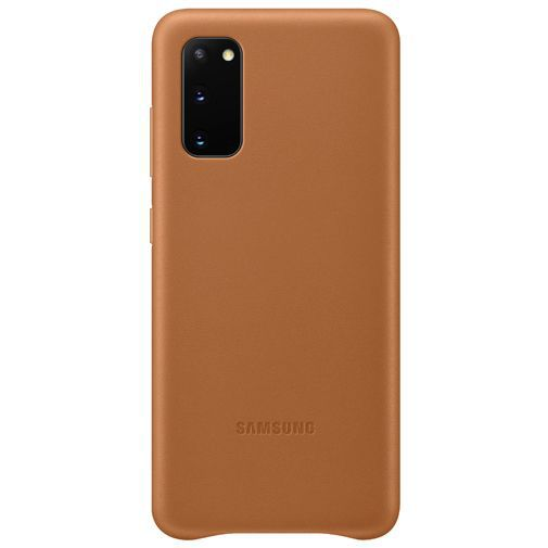 Productafbeelding van de Samsung Leather Cover Brown Galaxy S20
