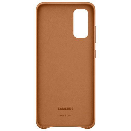 Productafbeelding van de Samsung Leather Cover Brown Galaxy S20