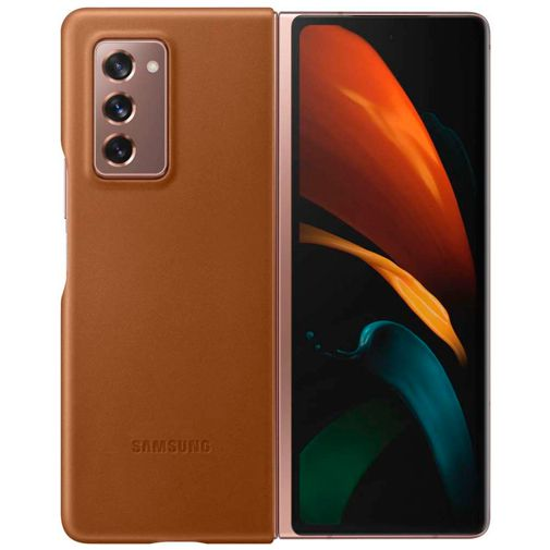 Productafbeelding van de Samsung Leather Cover Brown Galaxy Z Fold 2