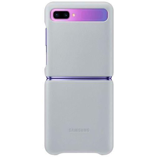 Productafbeelding van de Samsung Leather Cover Grey Galaxy Z Flip