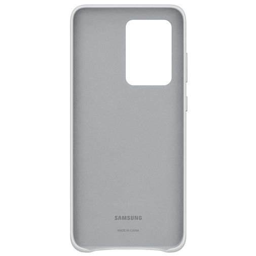 Productafbeelding van de Samsung Leather Cover Light Grey Galaxy S20 Ultra