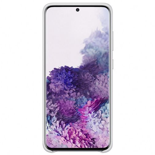 Productafbeelding van de Samsung Leather Cover Light Grey Galaxy S20