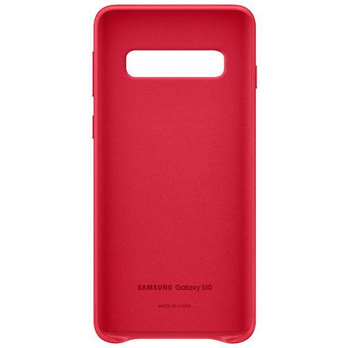 Productafbeelding van de Samsung Leather Cover Red Galaxy S10