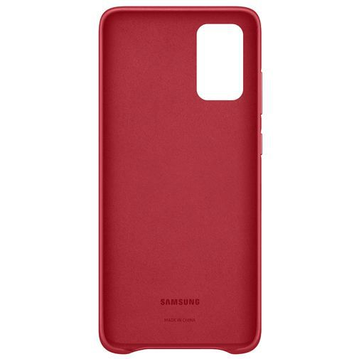 Productafbeelding van de Samsung Leather Cover Red Galaxy S20+