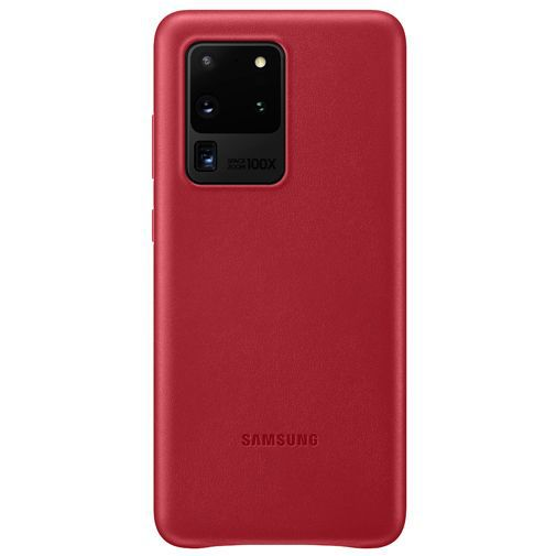 Productafbeelding van de Samsung Leather Cover Red Galaxy S20 Ultra