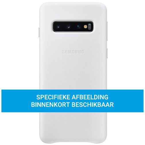 Productafbeelding van de Samsung Leather Cover White Galaxy S20