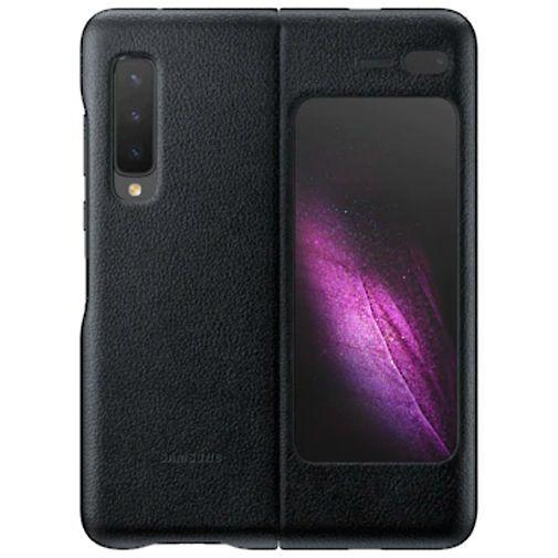 Productafbeelding van de Samsung Leather Cover Black Galaxy Fold