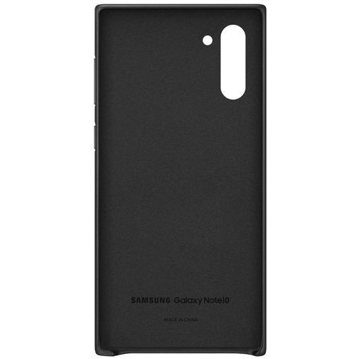 Produktimage des Samsung Leather Cover Schwarz Galaxy Note 10