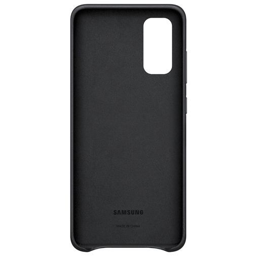 Productafbeelding van de Samsung Leather Cover Black Galaxy S20