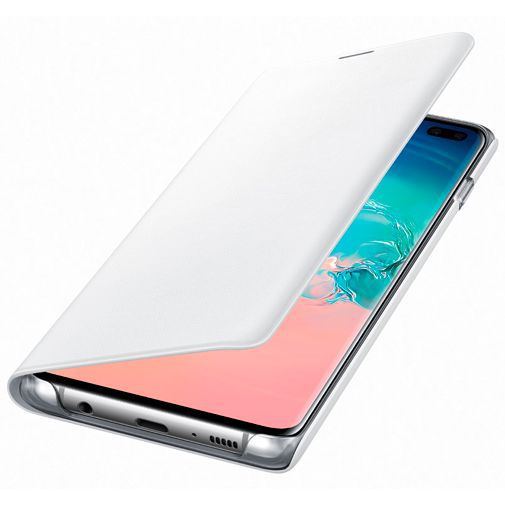 Produktimage des Samsung LED View Cover Weiß Galaxy S10+