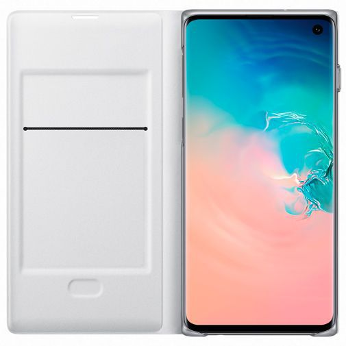 Produktimage des Samsung LED View Cover Weiß Galaxy S10