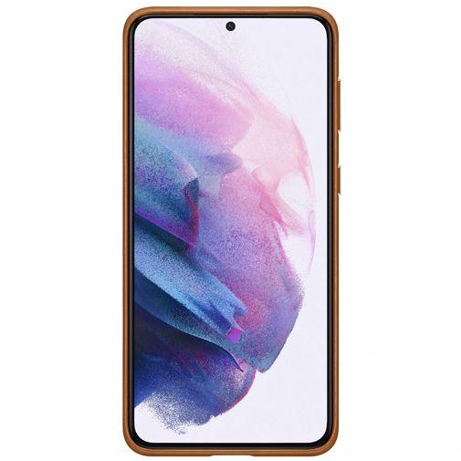 Productafbeelding van de Samsung Leren Back Cover Bruin Samsung Galaxy S21+