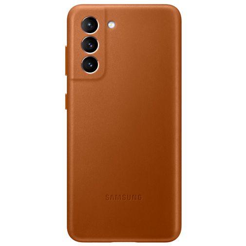 Productafbeelding van de Samsung Leren Back Cover Bruin Samsung Galaxy S21