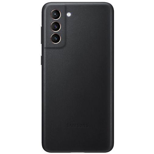 Productafbeelding van de Samsung Leren Back Cover Zwart Samsung Galaxy S21+