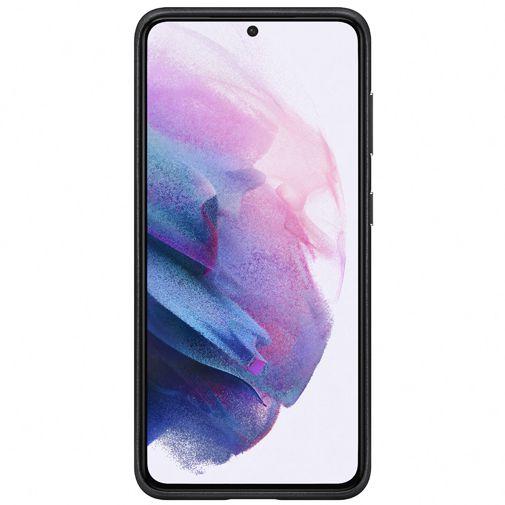 Productafbeelding van de Samsung Leren Back Cover Zwart Samsung Galaxy S21