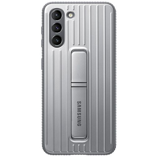 Productafbeelding van de Samsung PC Protective Standing Back Cover Zilver Samsung Galaxy S21