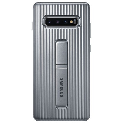 Produktimage des Samsung Protective Standing Cover Silber Galaxy S10+