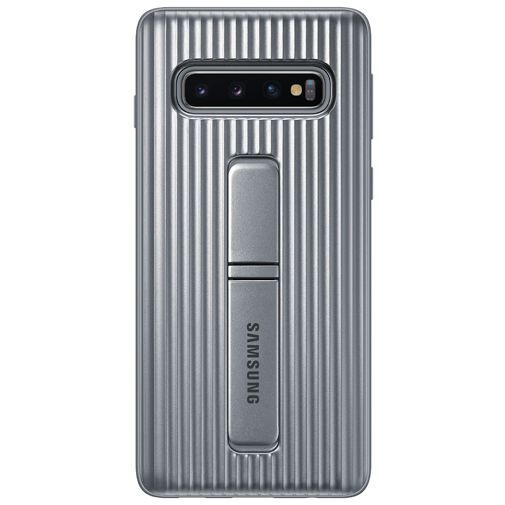 Produktimage des Samsung Protective Standing Cover Silber Galaxy S10 G973