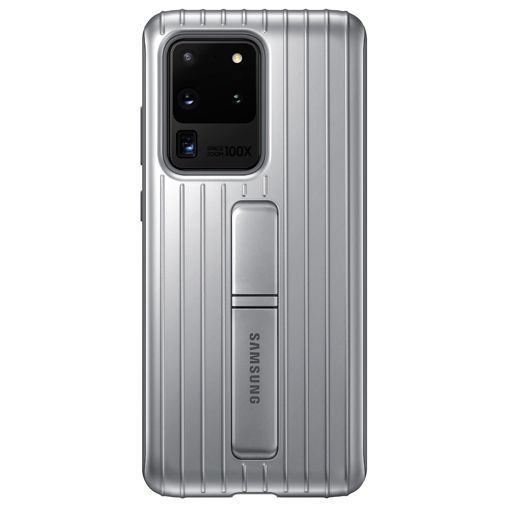 Productafbeelding van de Samsung Protective Standing Cover Silver Galaxy S20 Ultra