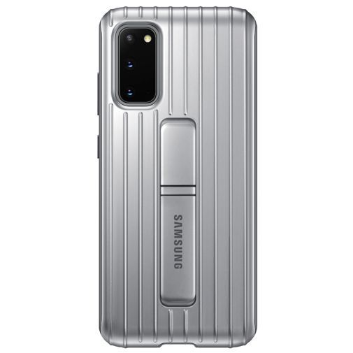 Productafbeelding van de Samsung Protective Standing Cover Silver Galaxy S20