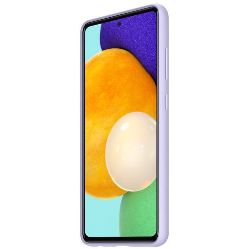 Productafbeelding van de Samsung Silicone Back Cover Paars Samsung Galaxy A52