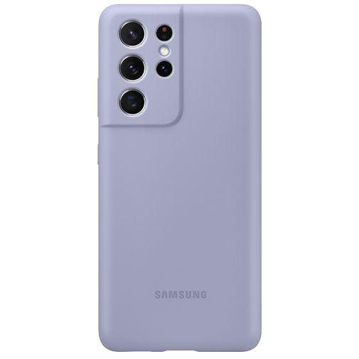 Productafbeelding van de Samsung Silicone Back Cover Paars Samsung Galaxy S21 Ultra