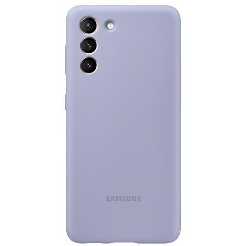 Productafbeelding van de Samsung Silicone Back Cover Paars Samsung Galaxy S21