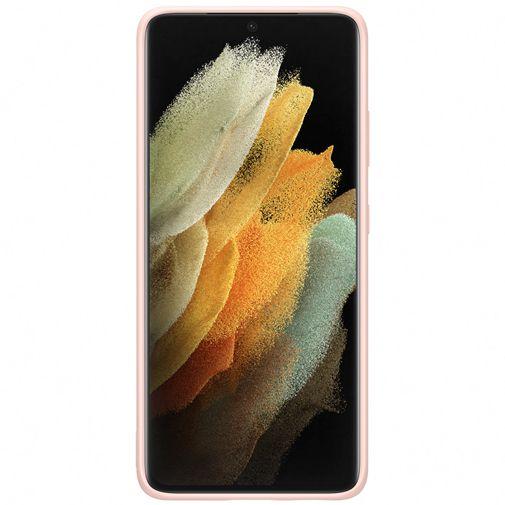 Productafbeelding van de Samsung Silicone Back Cover Roze Samsung Galaxy S21 Ultra