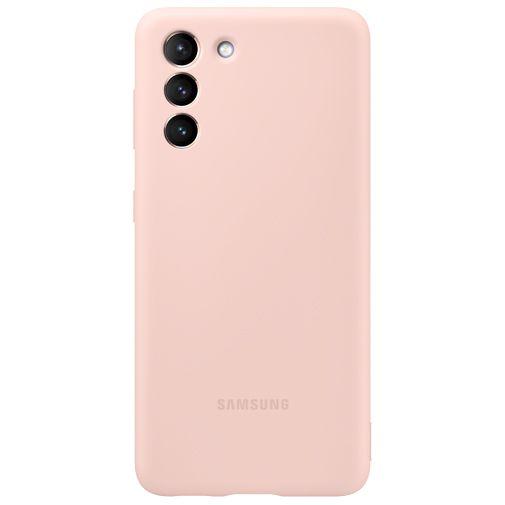 Productafbeelding van de Samsung Silicone Back Cover Roze Samsung Galaxy S21