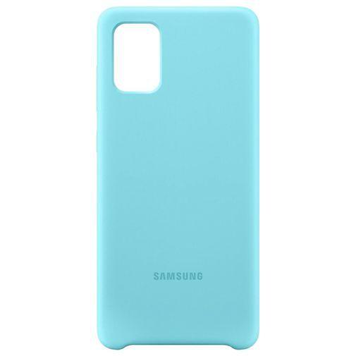 Produktimage des Samsung Silicone Cover Blau Galaxy A71
