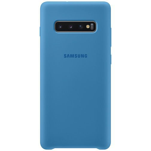 Productafbeelding van de Samsung Silicone Cover Blue Galaxy S10+