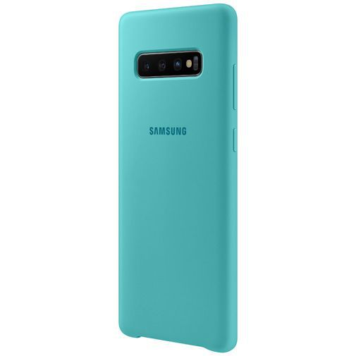 Productafbeelding van de Samsung Silicone Cover Green Galaxy S10+