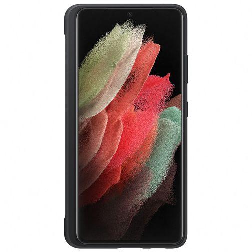 Productafbeelding van de Samsung Silicone Back Cover Met S-Pen Zwart Samsung Galaxy S21 Ultra