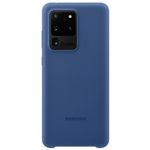 Productafbeelding van de Samsung Silicone Cover Navy Blue Galaxy S20 Ultra