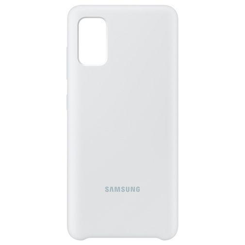 Productafbeelding van de Samsung Silicone Cover White Galaxy A41