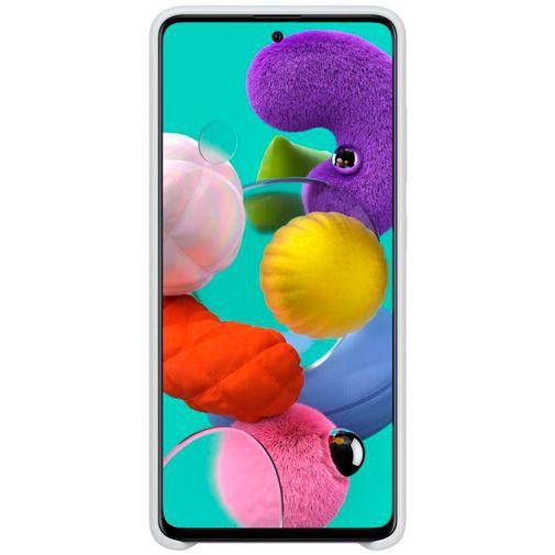 Produktimage des Samsung Silicone Cover Weiß Galaxy A51 4G