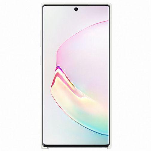 Produktimage des Samsung Silicone Cover Weiß Galaxy Note 10+