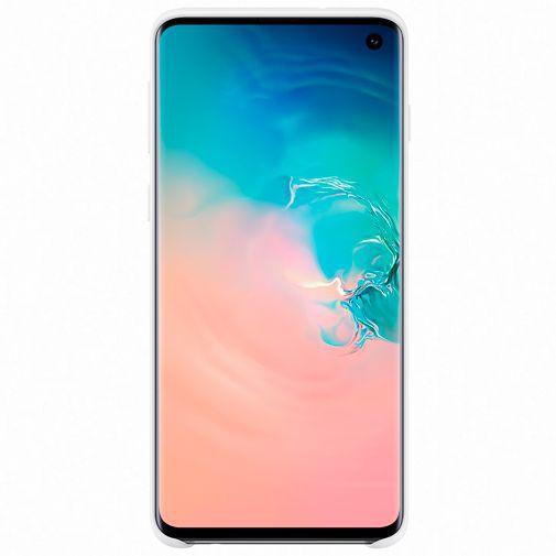 Productafbeelding van de Samsung Silicone Cover White Galaxy S10