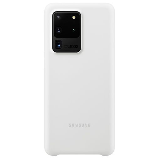 Productafbeelding van de Samsung Silicone Cover White Galaxy S20 Ultra
