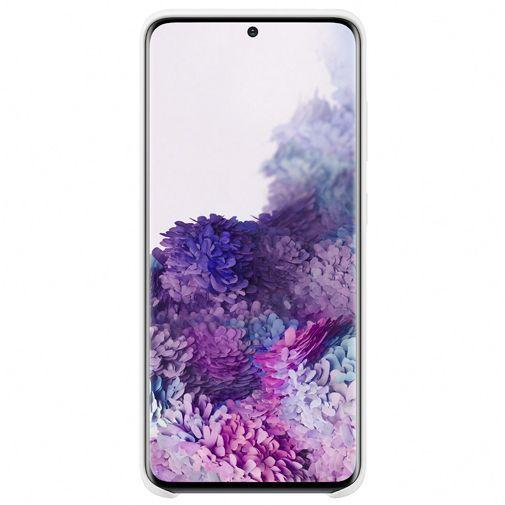 Productafbeelding van de Samsung Silicone Cover White Galaxy S20