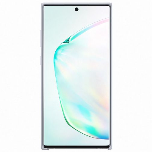 Produktimage des Samsung Silicone Cover Silber Galaxy Note 10+
