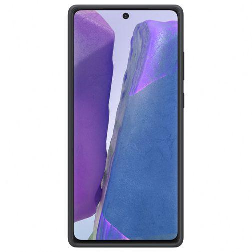 Productafbeelding van de Samsung Silicone Cover Black Galaxy Note 20
