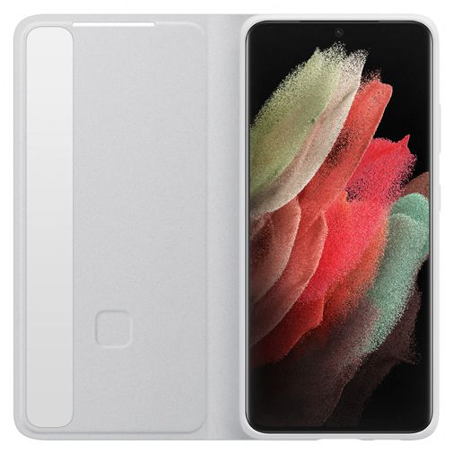 Productafbeelding van de Samsung Smart Clear View PC Book Case Grijs Samsung Galaxy S21 Ultra