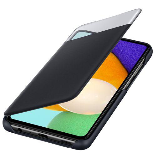Productafbeelding van de Samsung Smart S View Wallet Kunststof Book Case Zwart Samsung Galaxy A52