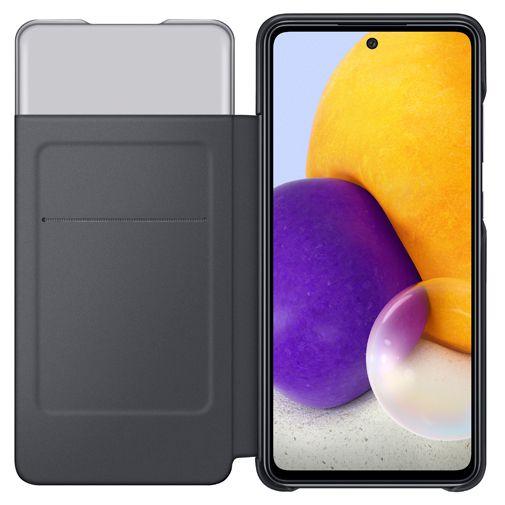 Productafbeelding van de Samsung Smart S View Wallet Kunststof Book Case Zwart Samsung Galaxy A72