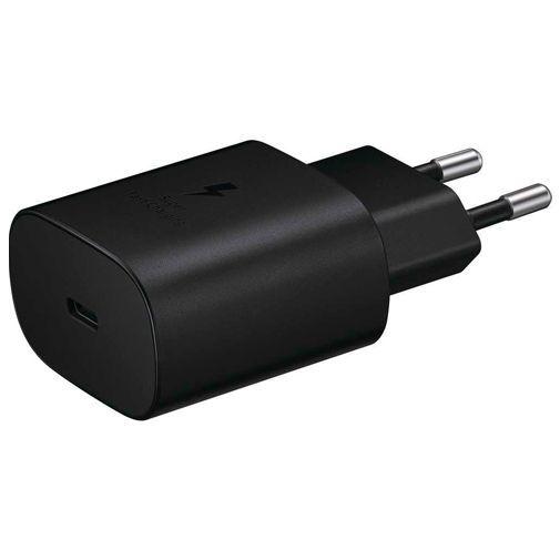 Produktimage des Samsung USB-C Ladeadapter mit Schnellladefunktion 25W + USB-C Kabel EP-TA800 Schwarz