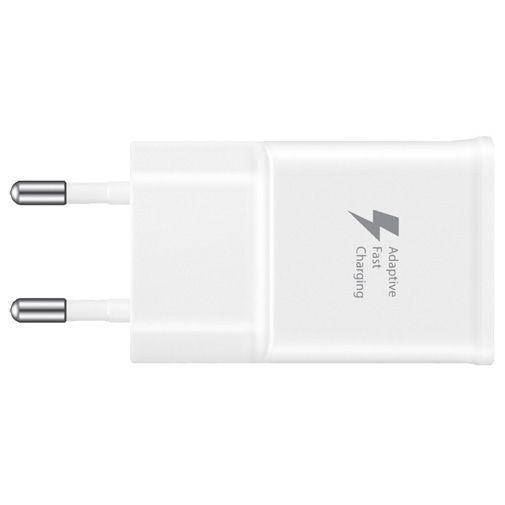 Produktimage des Samsung USB Ladeadapter mit Schnellladefunktion + USB-C-Kabel EP-TA20 Weiß